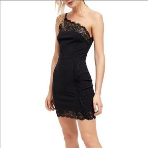 Free People Premonitions Bodycon Dress Black Med